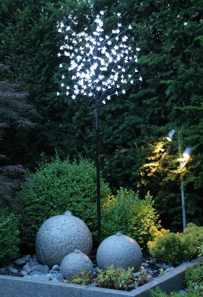 LED-Leuchtbaum, Cherry S, Warm-Weiss, 200 LEDs, 1,8 m Hoch